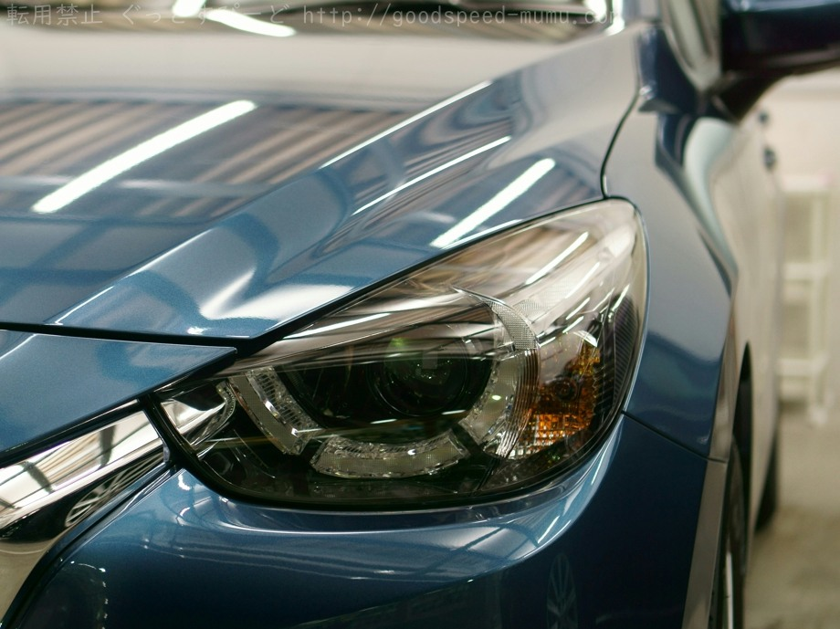 デミオ コーティングのメンテナンスをして新車の輝きに
