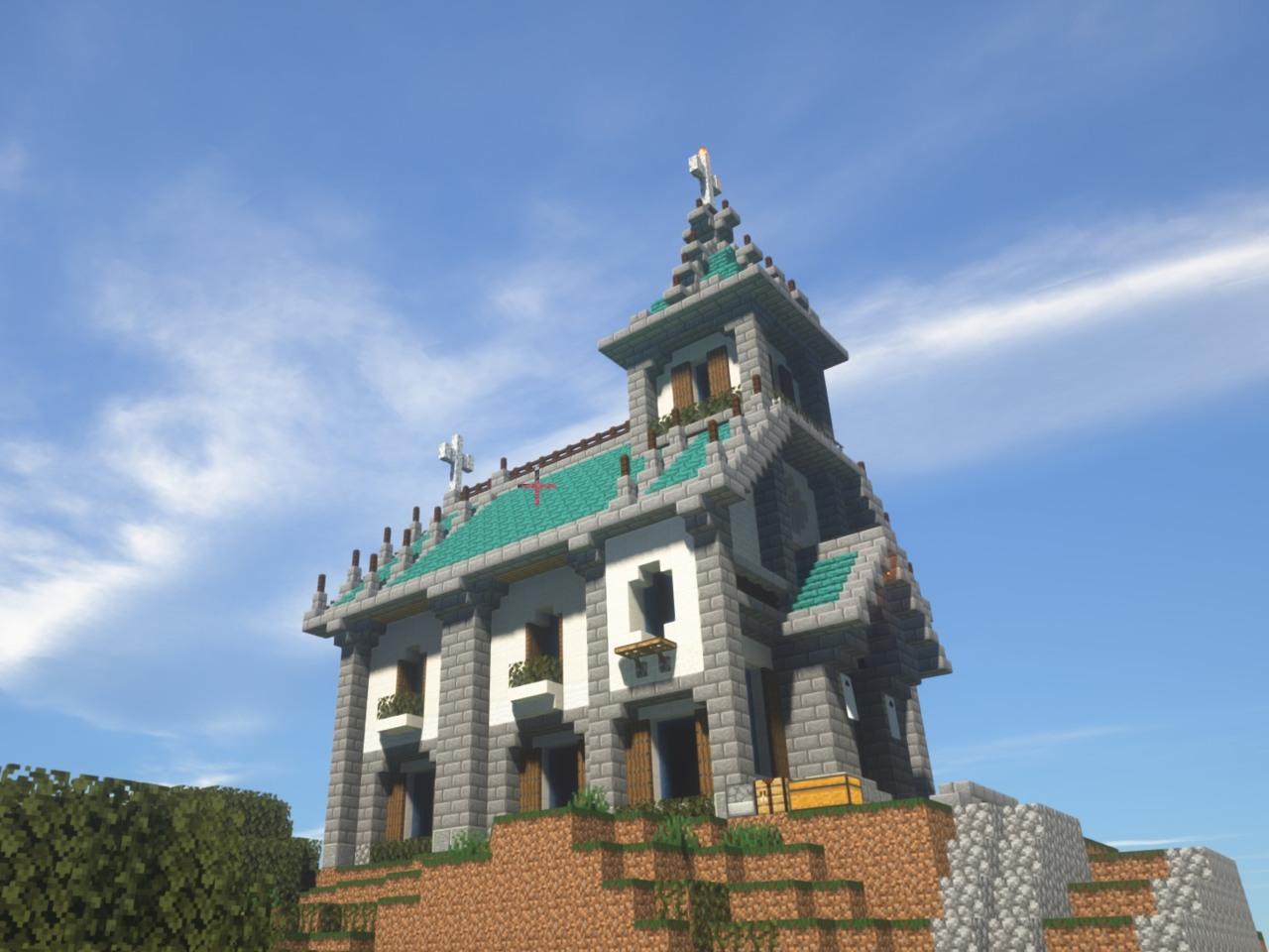マイクラ オシャレ教会を建設